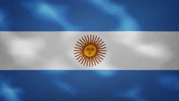 Argentinean dense flag fabric wavers, background loop