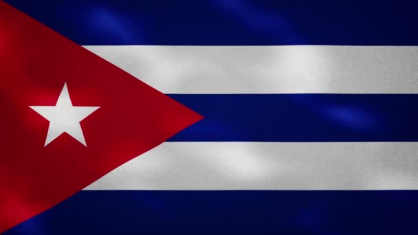Cuban dense flag fabric wavers, background loop