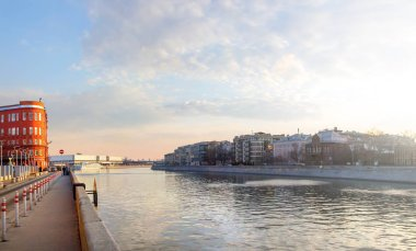 View of Moskva River and The New Tretyakov Gallery. Moscow, Russia