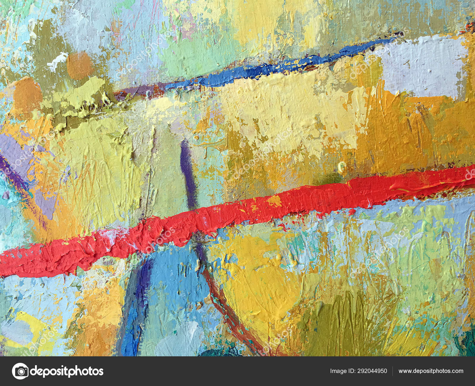 Vivid Abstract Minimalistic Painting Background Mixed Paint