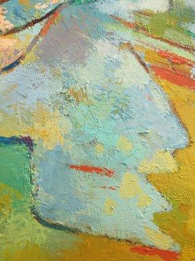 """Картина, постер, плакат, фотообои """"яркий абстрактный минималистический фон картины со смешанной текстурой краски. рисунок с красной линией и светло-голубыми пятнами. текстура поверхности для художественной галереи, дизайн баннеров картина цветы все"""", артикул 292045462"""