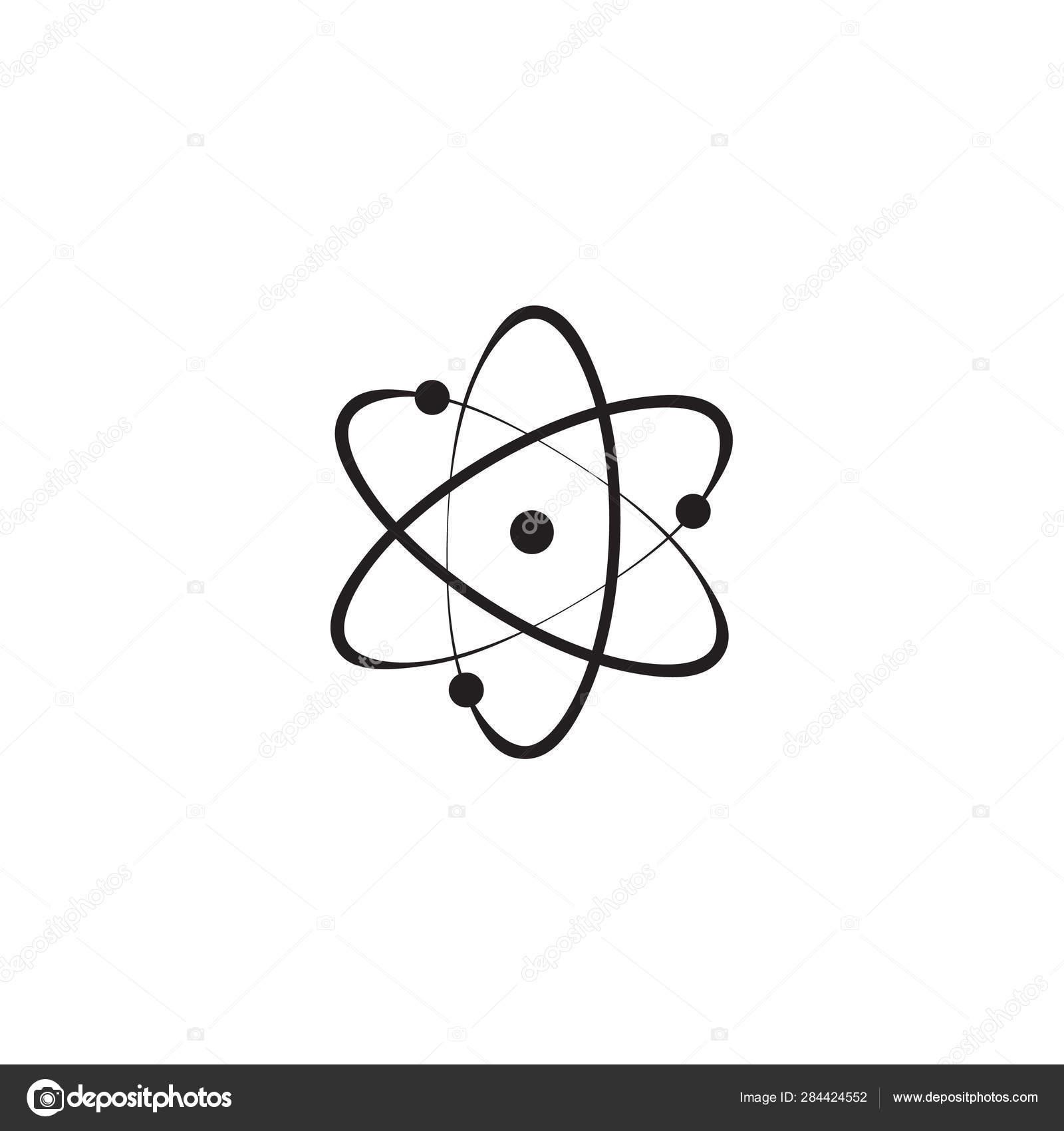 Estrutura Do ícone Do Núcleo Do átomo átomo Prótons