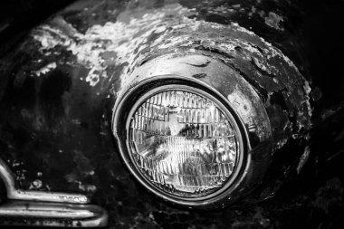 Retro car. black and white photography. High quality photo