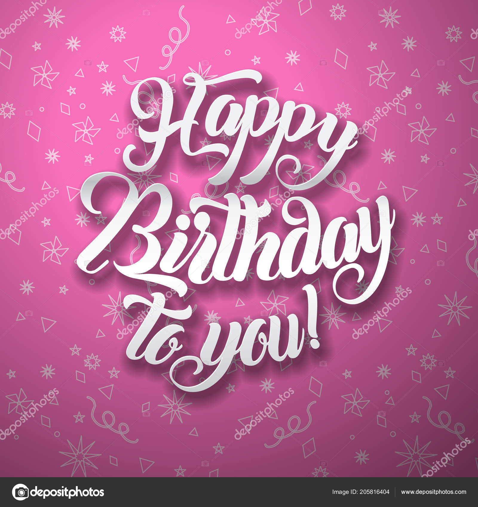Happy Birthday To You Lettering Text Vector Illustration Greeting Card Design Vektor Von SubhanBghirov