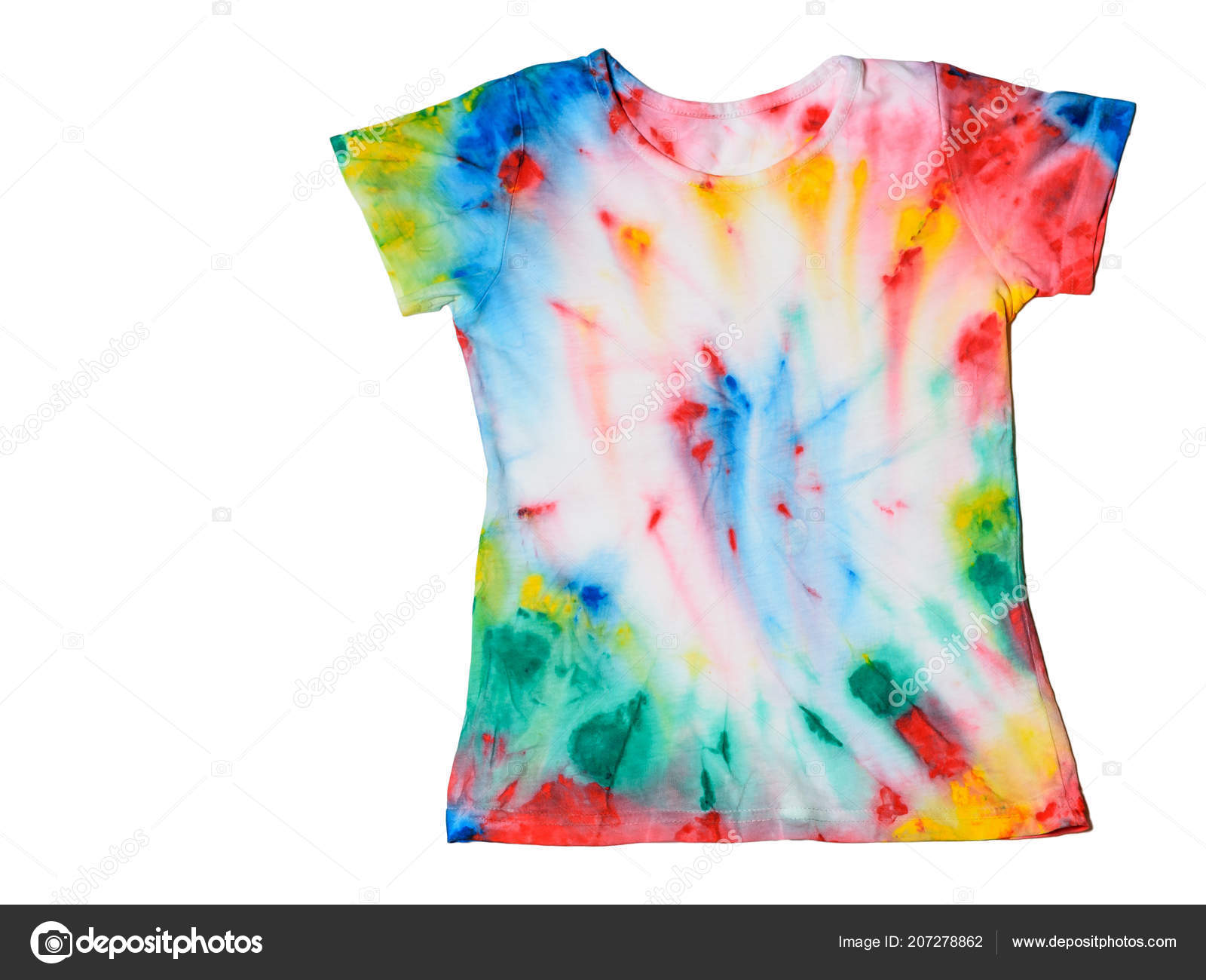 08869d7fc13f Shirt Painted Tie Dye Style Isloated White Background White Clothes — Stock  Photo