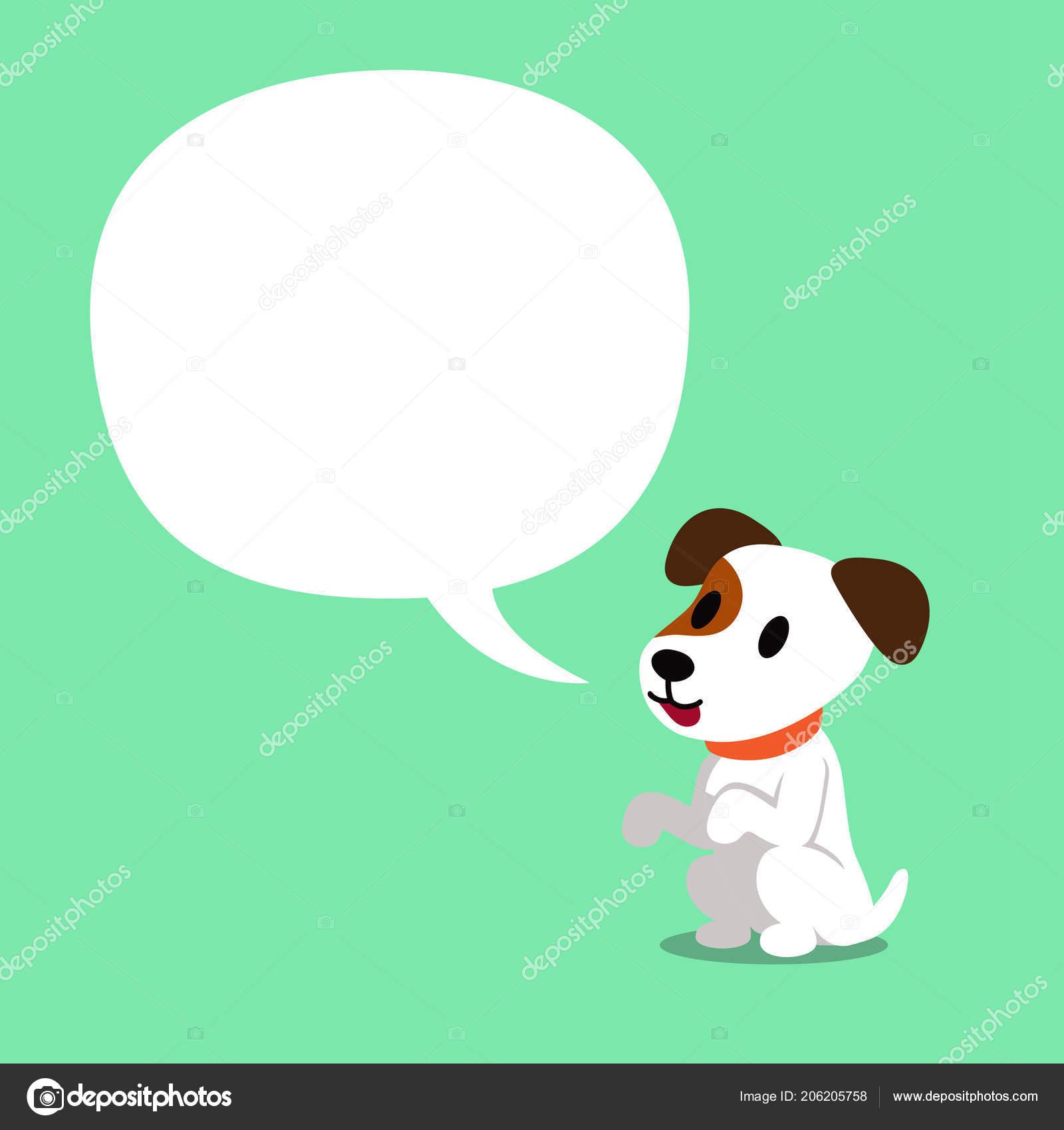 Personaggio dei cartoni animati jack russell terrier cane bianco