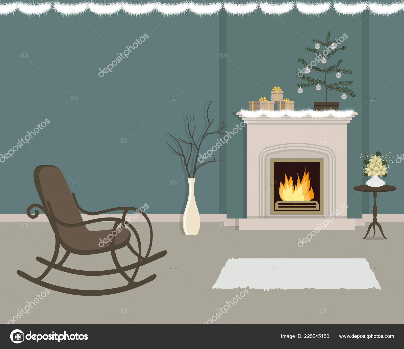 Wondrous Living Room Fireplace Decorated Christmas Decorations Room Machost Co Dining Chair Design Ideas Machostcouk