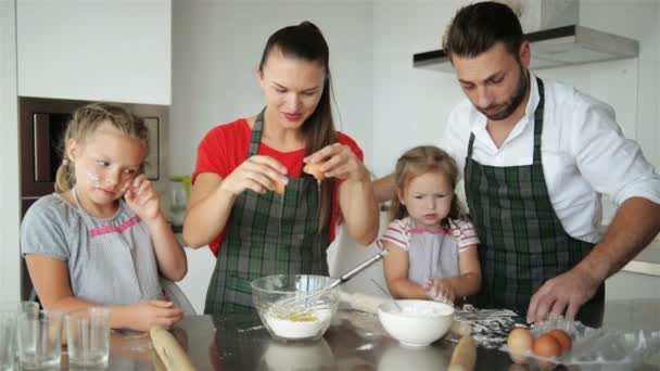 Parents Teach Children Cooking  They Show Children How to Cook Dough