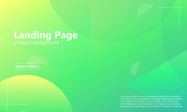 Website landing page. Geometric background.