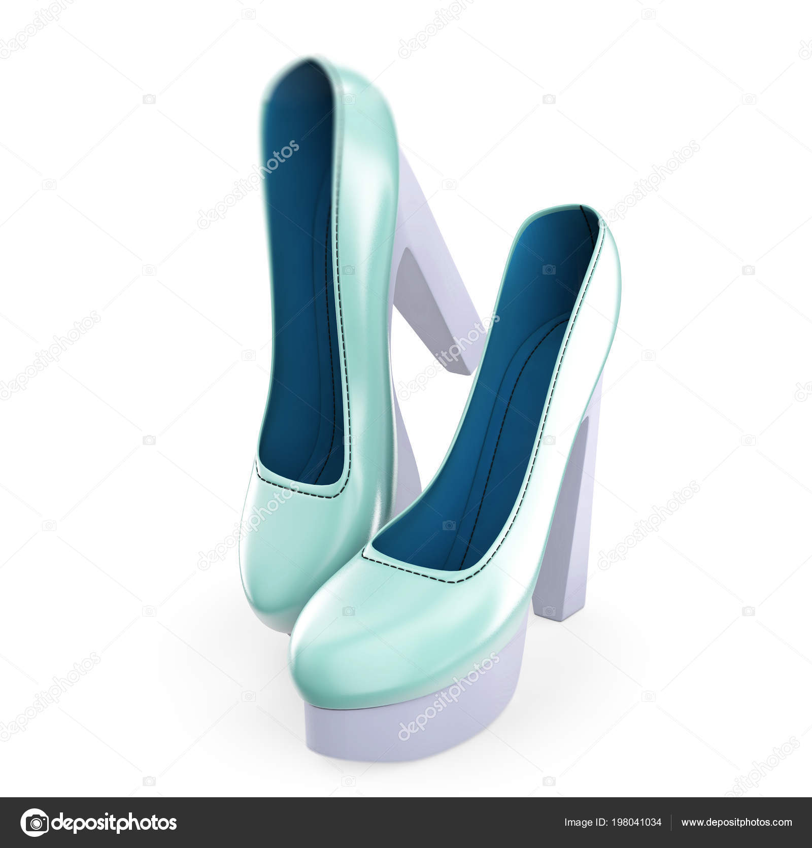 Pair Color Women High Heel Shoes Illustration — Stock Photo