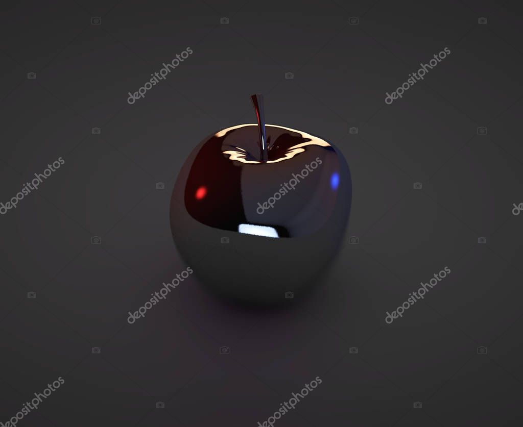 High resolution 3D render blue glass sphere with shadow isolated on white, reflecting