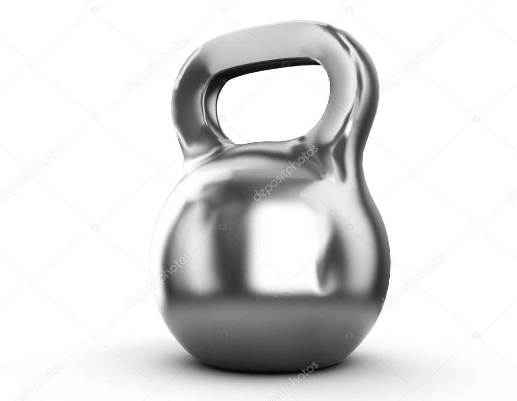 Iron Dumbbell Isolated on white background. Sport and Recreation Concept. 3d render