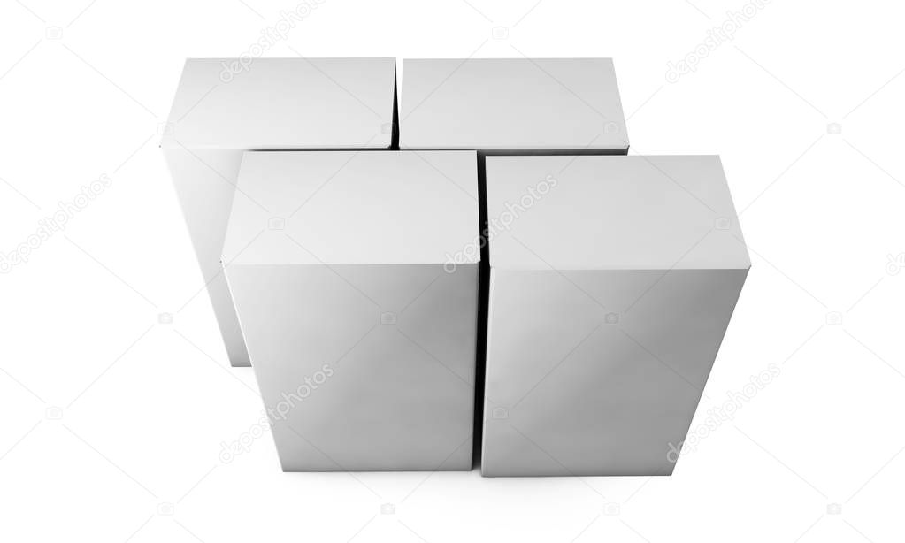 cube on wall studio background. 3d rendering