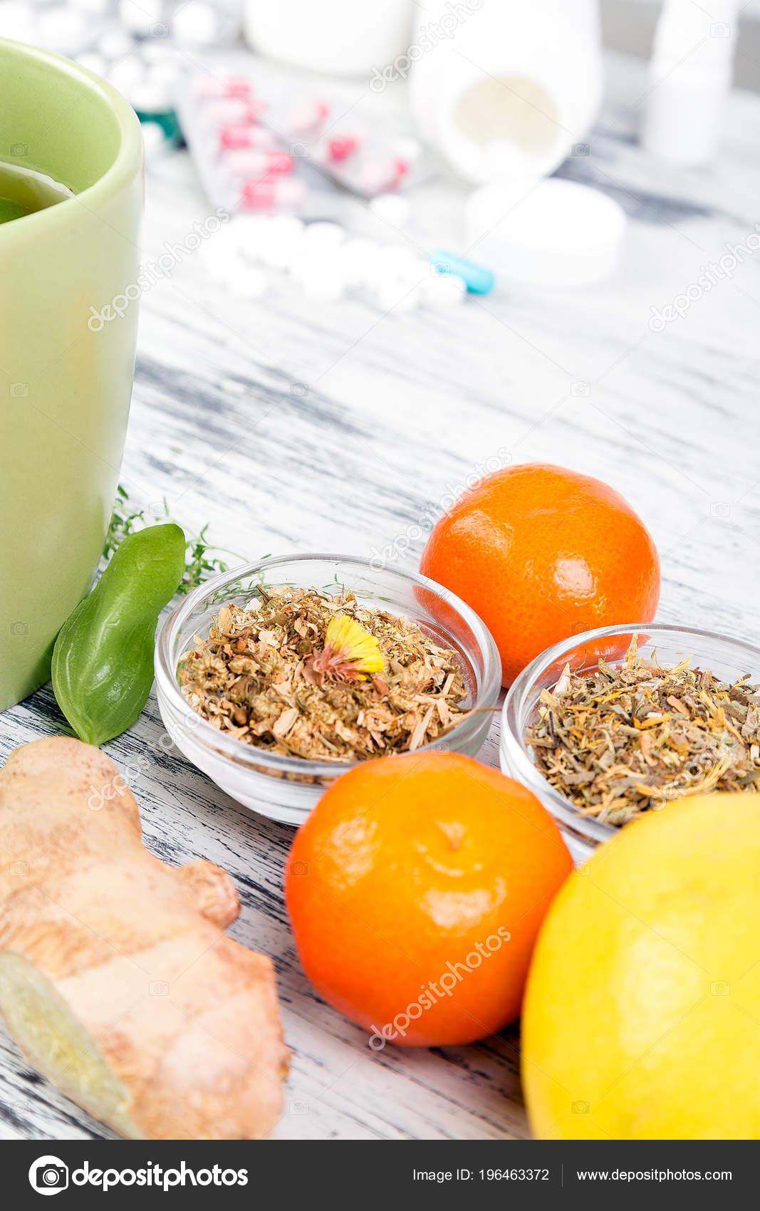 Alternative Remedies Traditional Pills Treat Colds Flu