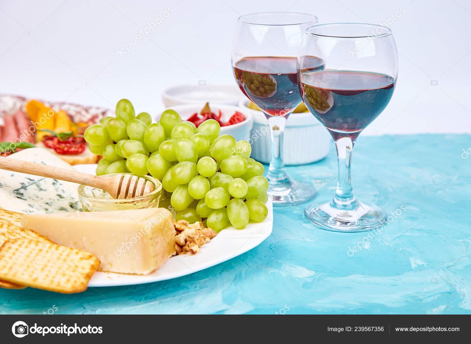 Italian Antipasti Wine Snacks Set Antipasto Catering Platter Jerky Salami Stock Photo C Bondarillia 239567356
