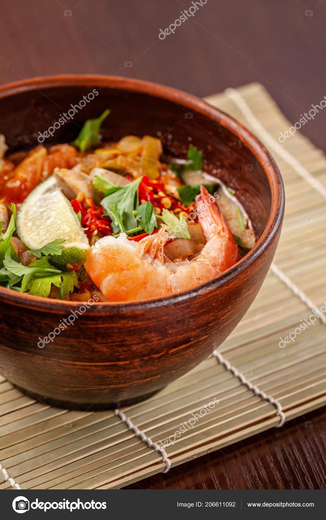 Asian Oriental Cuisine Japanese y Soup Seafood Shrimps ... on