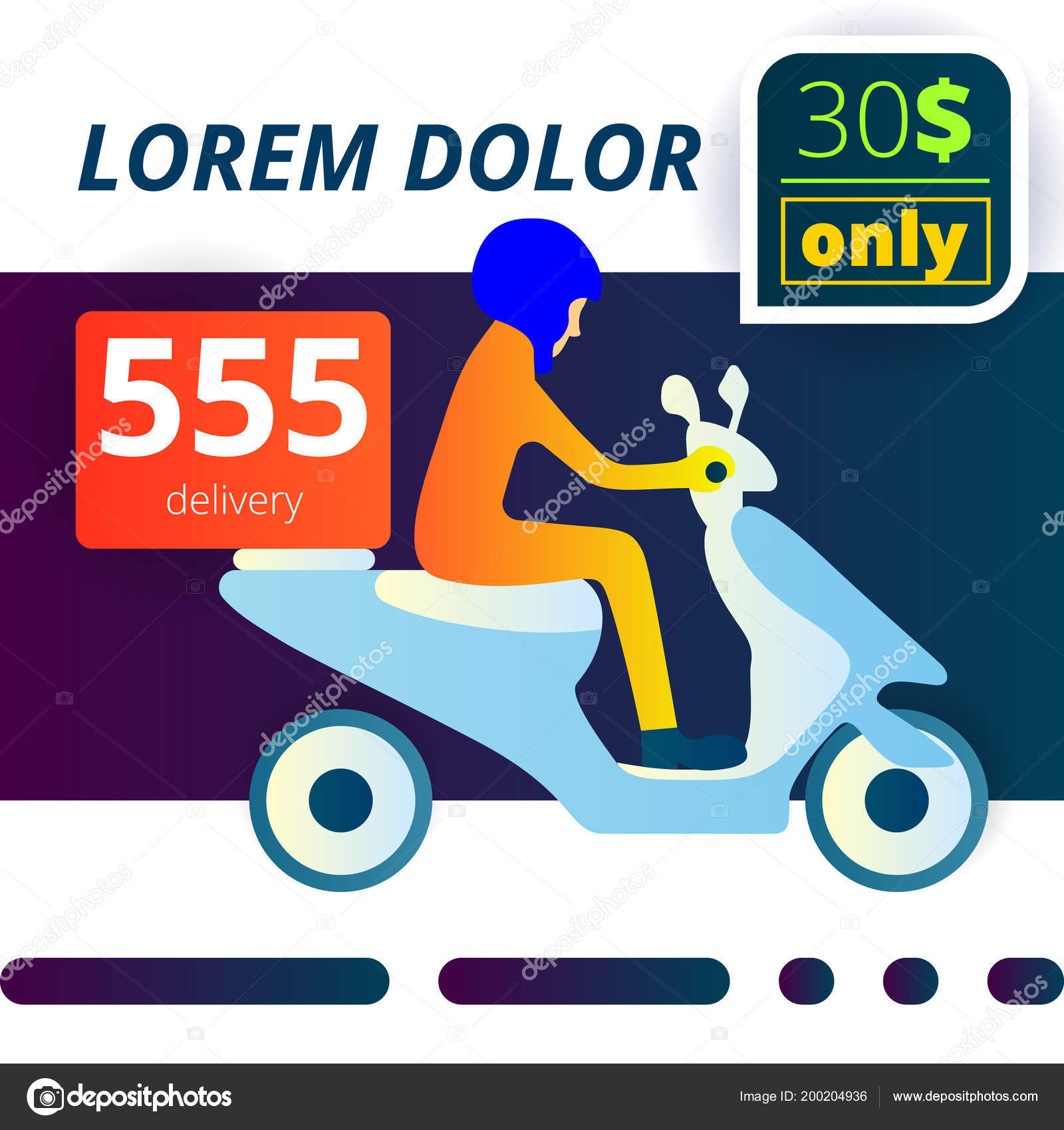 moped delivery service stock vector avamyara gmail com 200204936