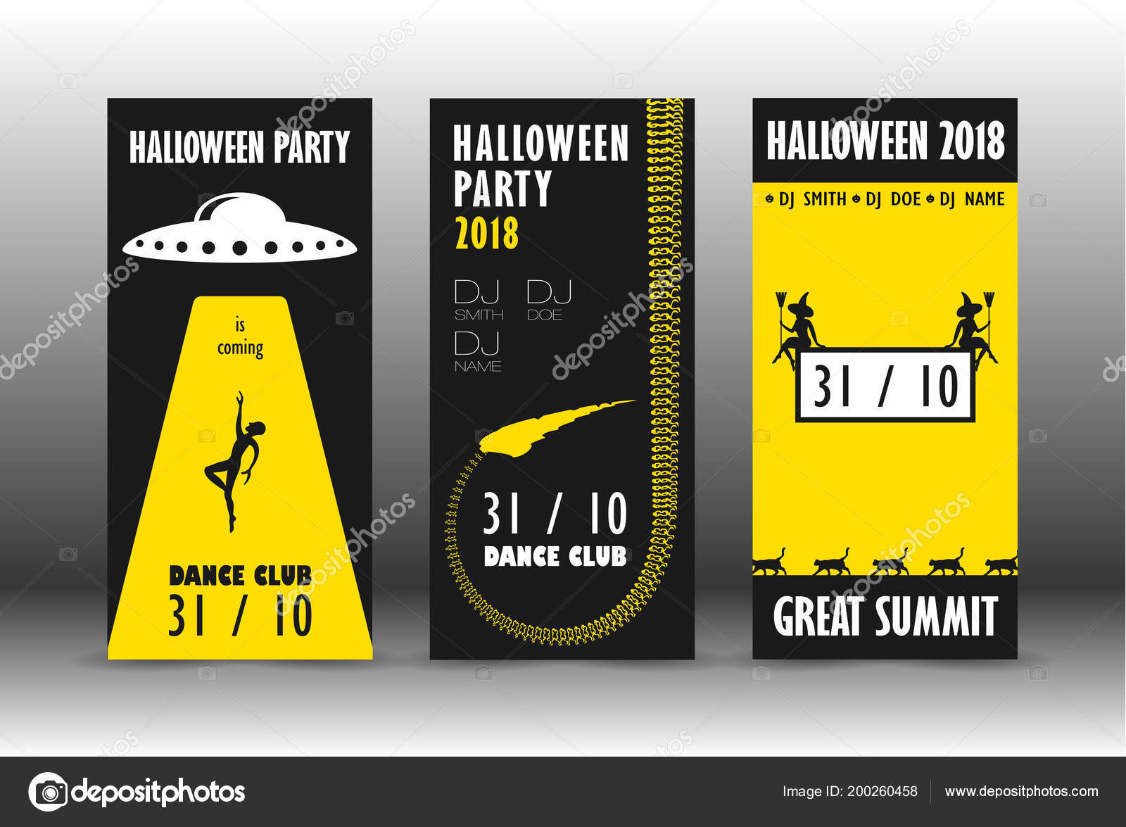 halloween flyer template stock vector avamyara gmail com 200260458