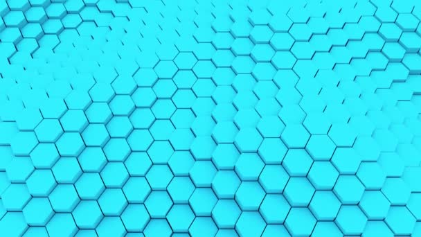 Viele abstrakte geometrische Sechsecke als Welle, optische Täuschung, Computer generierte 3D-Rendering