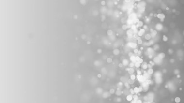 Many white bokeh particles in space, computer generated abstract background, 3d render backdrop
