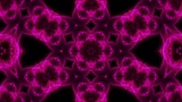 Krásné abstraktní kaleidoskop - květina fraktál, 3d vykreslení pozadí, počítač generování pozadí