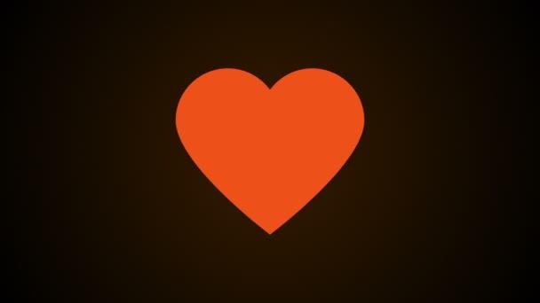 einfaches Herz, dies ist ein Symbol der Liebe, abstrakter 3D-Computer generierter Hintergrund