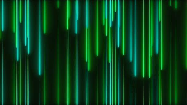 Mnoho vertikální neonové osvětlení linky, abstraktní počítač tvořil pozadí, 3d vykreslení