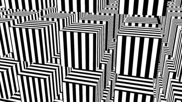 Fekete-fehér csíkok. Számítógép által generált absztrakt háttér, 3D render
