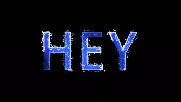 Zápis písmen textu, Hey, 3d vykreslení pozadí, počítač generování pro kreativní