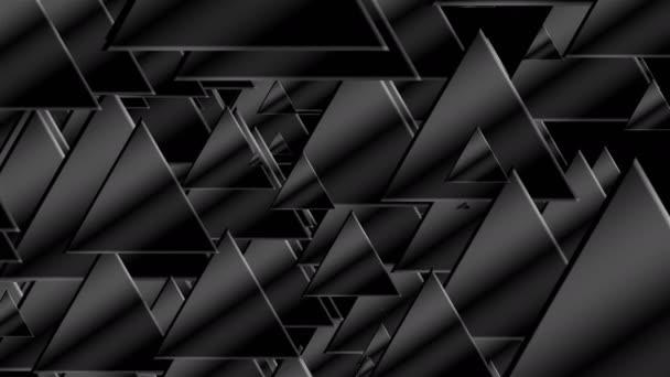 Mnoho černé trojúhelníky pro technologické zázemí, 3d vykreslení počítač vytvořený abstrakce
