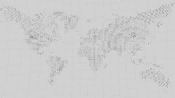 Globale Technologie Welt Karte, flache Erde, Weltkarte Globussymbol, 3d Render backgroung