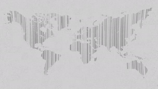 Ikona zeměkoule worldmap mapa, ploché země, svět globální technologie, 3d vykreslení backgroung
