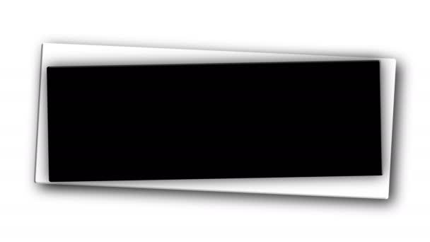 Hranatý jednoduchý banner pro váš text, dekorace pro internetové reklamy, 3d vykreslení pozadí, počítač generování