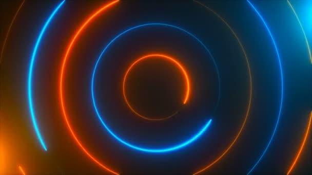 Abstraktní spirála neon kruhy, computeru pozadí, 3d vykreslení pozadí