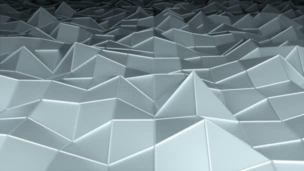 Alacsony poligonális felület, a számítógép által generált a modern absztrakt háttér, 3d render
