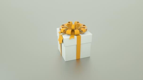 Krásná a elegantní Dárková krabice s pásu a bow, 3d vykreslování pozadí pro dovolenou, slavnostní, slavnostní kreativní