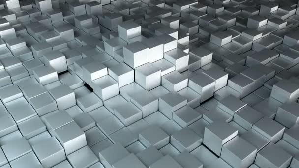 Mnoho datových krychlí, počítač vytvořený moderní abstraktní pozadí