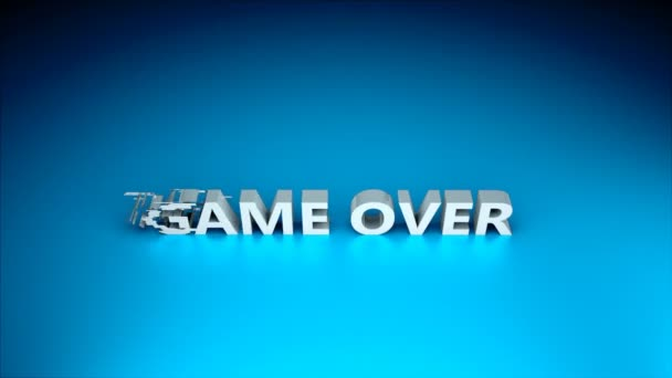 3d text - Game over with glitches effect are on surface, background for gaming or computer design