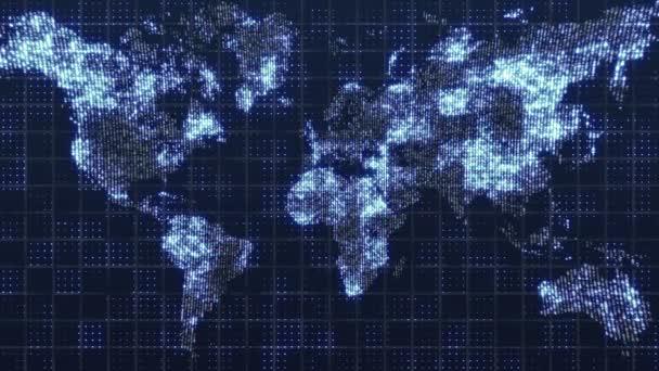 Globale Technologie-Weltkarte, Weltenplan-Symbol, 3D-Render-Backgroung
