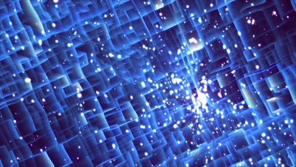 Labyrinth of light, abstract technology 3d render background, computer generated, for technology or business