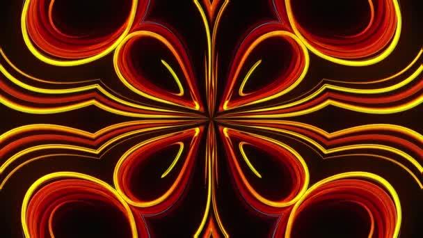 Abstraktní překrásné pozadí kaleidoskopu s přísvitu, jako jsou okvětní čáry, 3D vykreslení počítače generované pozadím