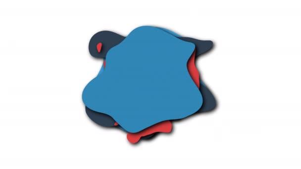 Forme isolate liquide di liquido colorato in stile cartone animato, 3d rendering sfondo generato al computer per la creatività