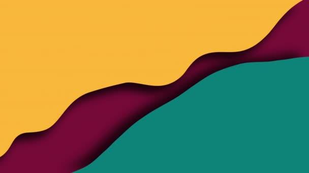 Jednoduché vlny barevné tvary s vrstvami, 3D vykreslení moderní kreativní, počítač generované
