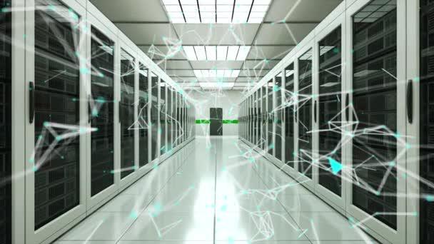 Místo na serveru a spojovací body v Datacenter, webové síti a internetové telekomunikační technologii, 3D vykreslování