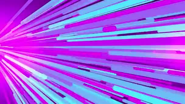 Let barevných světelných pruhů v bočním směru, 3D vykreslování pozadí počítače