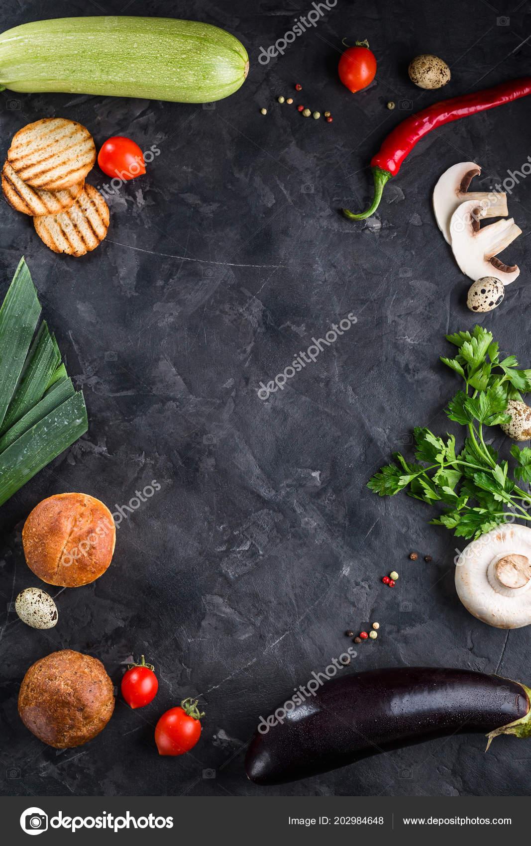 Rama Food Menu Restaurant Black Background Ingredients Space Copy Concept Stock Photo C Yakovlevadaria 202984648