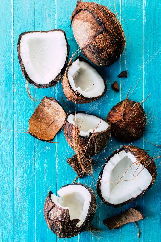 Про, картинки с кокосами на голубом фоне