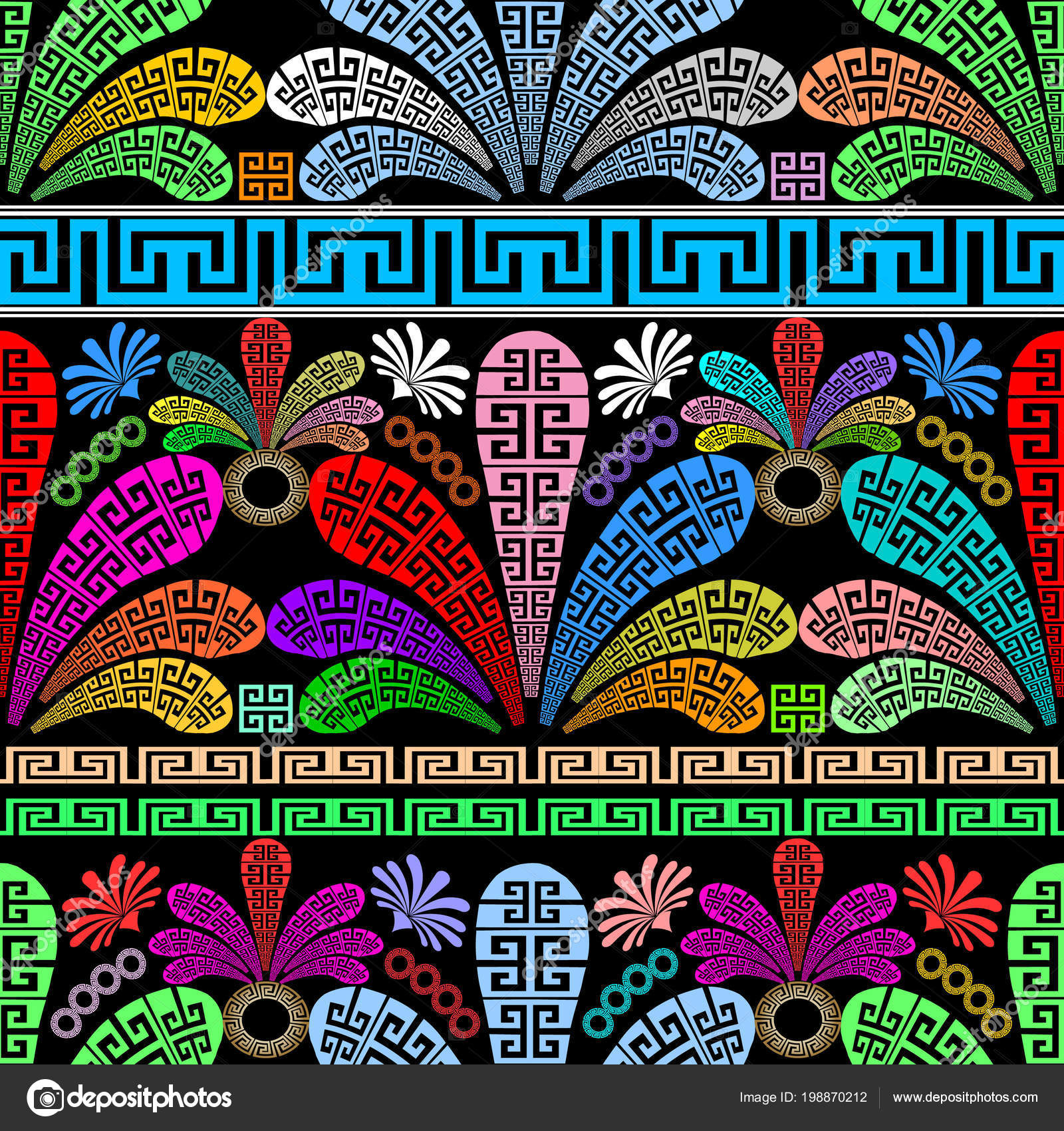 Foto greche decorative floreali modello senza cuciture for Greche decorative