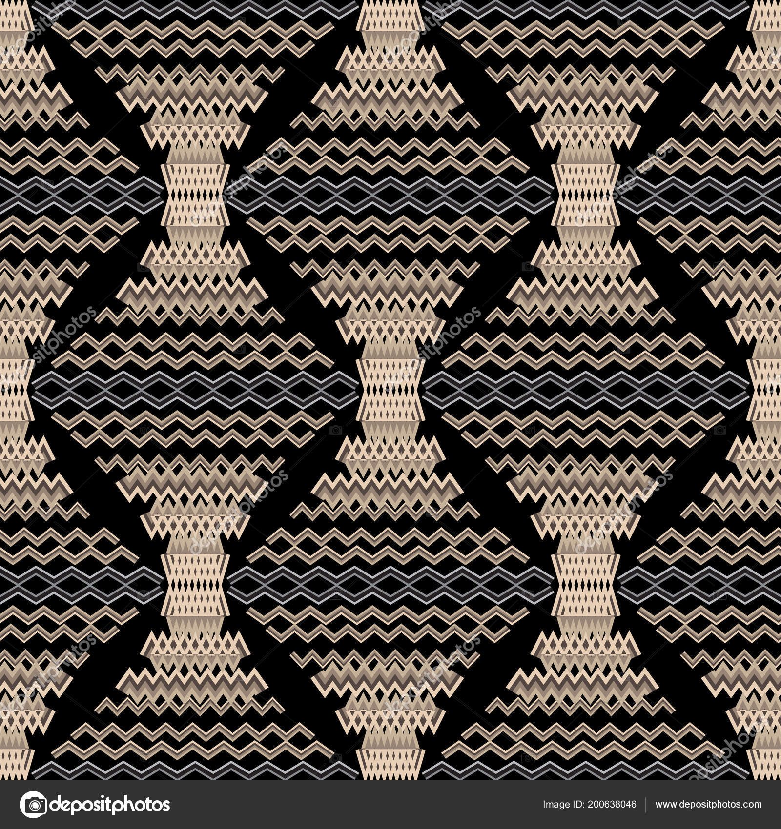 Zigzag Modern Vector Seamless Pattern Geometric Abstract Ornamental Background Creative