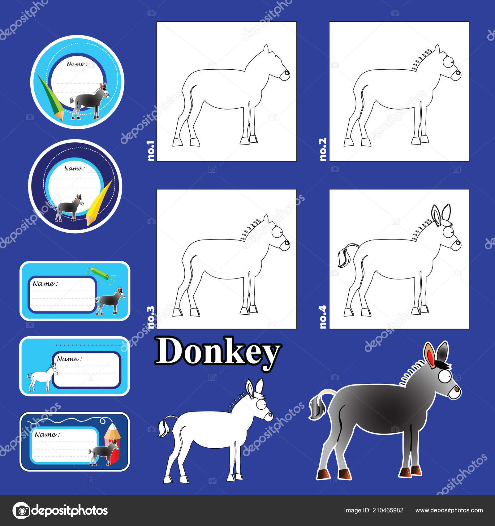 Step Step Drawing Tutorial Visual Game Kids Funny Animals Tags